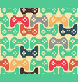 joystick seamless pattern retro gamepad texture vector image