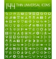 Large collection of thin universal web icon set vector image