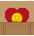love heart money vector image