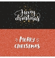 Merry Christmas cards vector image vector image