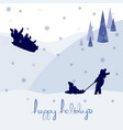 merry christmas happy holidays landscape vector image