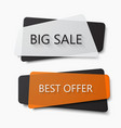 modern big sale and dest offer banners vector image