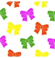 Multi-colored ribbons on a white background vector image vector image