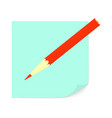paper for notes and a pencil vector image