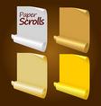 paper scrolls vector image vector image