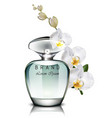 perfume bottle realistic mock up delicate vector image vector image