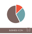 pie chart icon finances sign vector image vector image