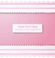 Pink background with vintage white lace vector image vector image