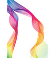 rainbow ribbon abstract shapes vector image