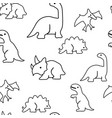 seamless pattern from dinosaurs vector image