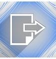 send Export file icon symbol Flat modern web vector image