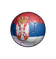 serbian flag football - soccer ball vector image vector image