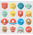 Set of color shopping shield retro vintage badges vector image vector image