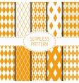Set of geometric yellow orange seamless pattern vector image vector image