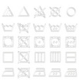 set of monochrome icons with laundry symbols vector image