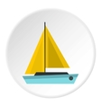 Small boat icon flat style vector image vector image