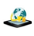 smartphone global optimization data center vector image vector image