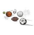 Sport ball sketches vector image