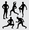 sport training silhouette vector image