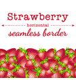 strawberry berries horizontal seamless border vector image vector image