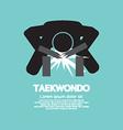 Taekwondo Asian Sport Symbol vector image