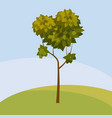 tree cartoon style isolated for games and vector image vector image