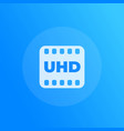 uhd video icon with film strip vector image vector image