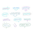 update sketch elements set for website design vector image