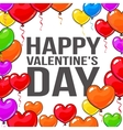 Valentine day greeting card with bunch of heart vector image vector image