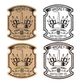 vintage grunge labels of whiskey with copper vector image vector image