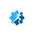 wheel run logo icon design vector image vector image