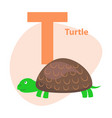 zoo abc letter with cute turtle cartoon vector image vector image