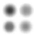 abstract halftone circle shapes set vector image