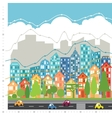 City chart infographic vector image