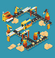 isometric industrial factory template vector image