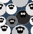 Seamless pattern with cute sheep Farm animals vector image