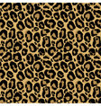 seamless pattern with leopard fur texture vector image
