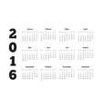 Calendar 2016 year on german language A4 sheet vector image