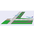 Airplane takeoff from runway vector image vector image
