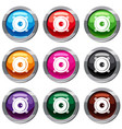 audio speaker set 9 collection vector image vector image