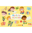 back to school elements pack vector image