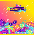 background with stylized summer objects abstract vector image vector image
