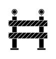 barrier restricted street stripe design pictogram vector image