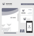 bat business logo file cover visiting card and vector image vector image