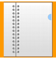 blank sheet in a notebook vector image