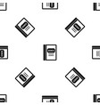 business book pattern seamless black vector image vector image