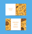 business card template for shop delivery vector image