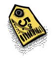 cartoon image of tag icon price symbol vector image