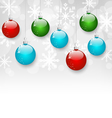 Christmas colorful balls with copy space vector image vector image