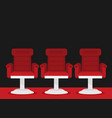 cinema chairs vector image